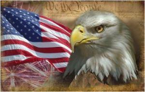 Flaf and eagle