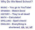 Why Do We Need Schools