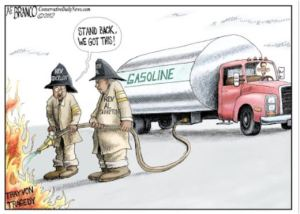 gas on fire